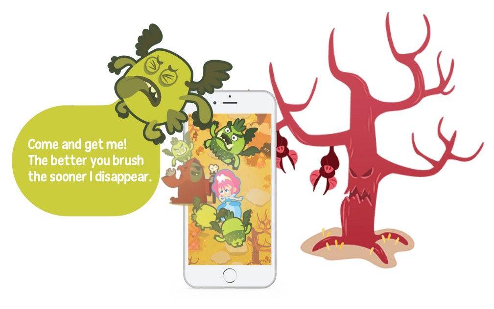 Playbrush elektrische Kinderzahnbürste UtoothiaMagic Spiel fürs Handy