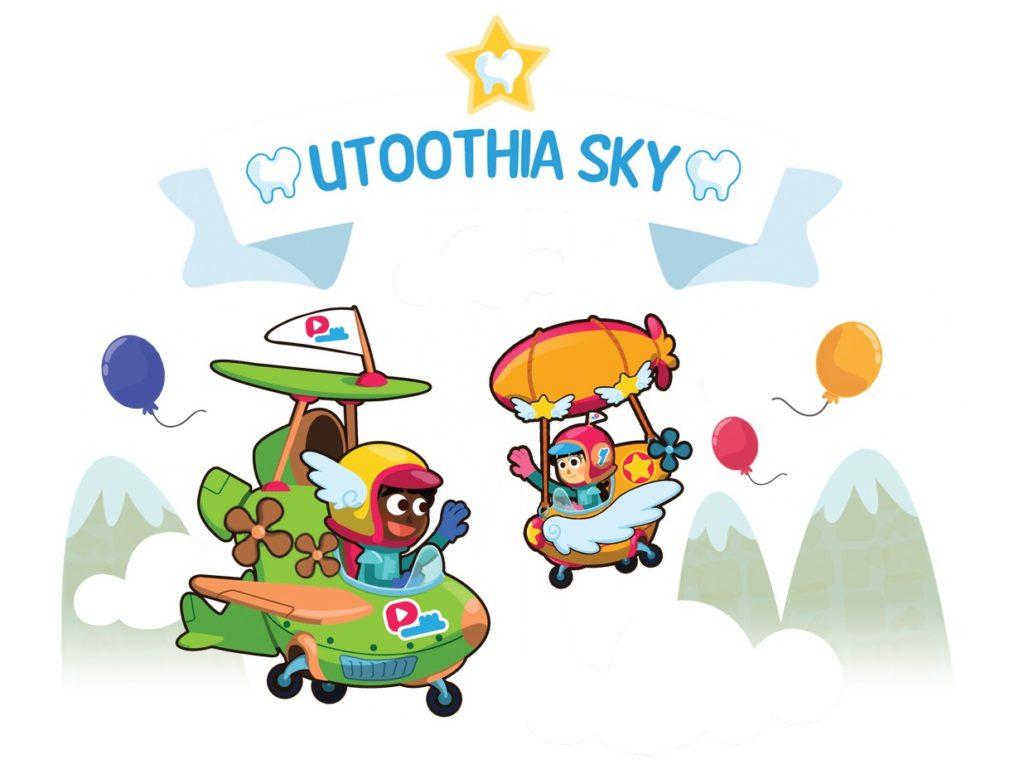 Playbrush elektrische Kinderzahnbürste UtoothiaSky Spiel fürs Handy